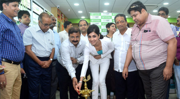 Rukmini Maitra Inaugrating A Emami Frankr Ross Store At Eco Space, Rajharhat