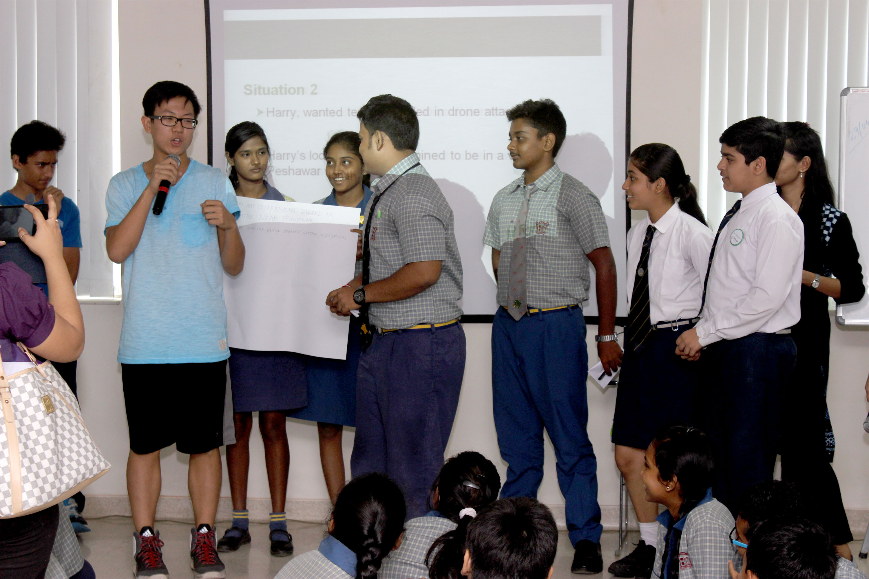 Students during Pro-social Peer Moderator Program interactive session