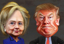 US Presidencial Candidates Caricatures