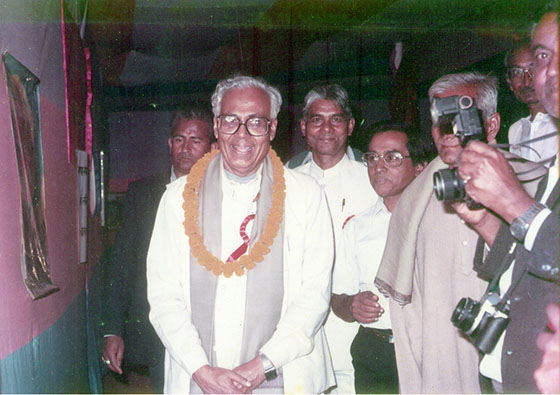 With then Chief Minister of Bihar, Sri Bhagwat Jha Azad during his exhibition