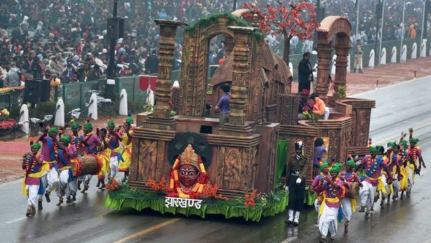 The Tableau of Jharkhand on Republic Day Parade 2015