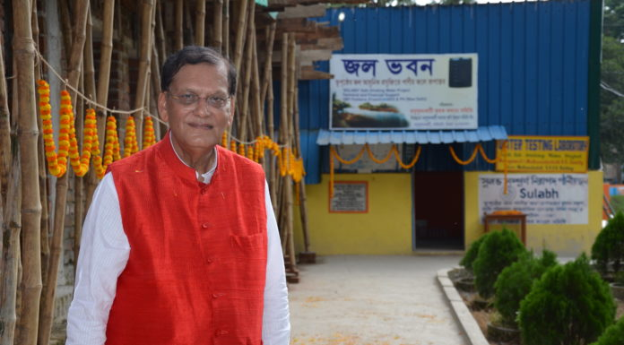Padmabhusan Dr. Bindeshwar's Pathak at the Rural Water Supply Project in North 24 Parganas.