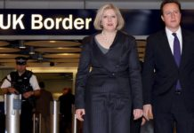 Britain's Prime Minister David Cameron and Home Secretary Theresa May Image Credit -www.mirror.co.uk