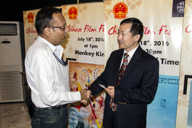 Chinese Consul General Kolkata & Suman Munshi Chief Editor IBG NEWS - Chinese Film Festival