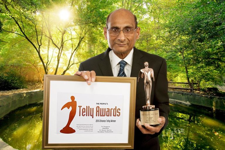 Dr. Ranen Sarma got US Peoples Telly Award 2016 – A life Dedicated for Humanity and Art