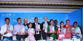 UNICEF launches The State of the World's Children (SOWC) Report 2016 in Kolkata.