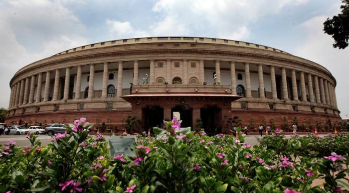 Parliament house in New Delhi