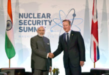Prime Minister Narendra Modi with the UK Prime Minister David Cameron - at the 2016 Nuclear Security Summit