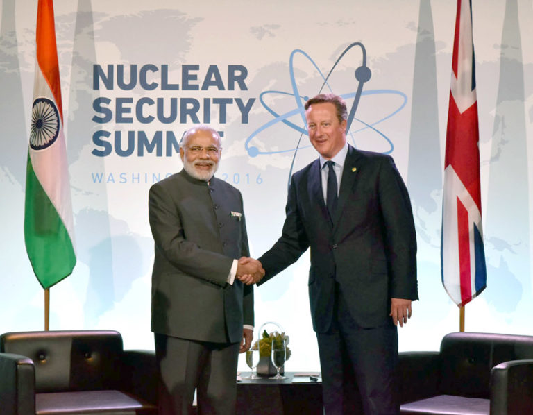 PM Modi congratulates Mrs. Theresa May, on taking over as the new PM of UK – Also remembers David Cameron in strengthening India-UK ties