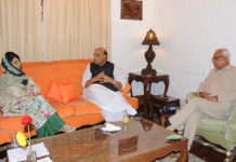Rajnath Singh - Meets J&K CM and Governor