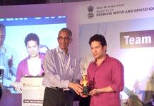 Sachin Tendulkar with Swach Bharat Champions