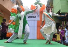 Students Performing at the inaugural of The Makeover Story organized by ABID to mark the occassion of pre-independence day celebation