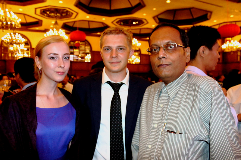 Cyril Krasnikov Press Attache Russian Consulate with Suman Munshi, Chief Editor,IBG NEWS