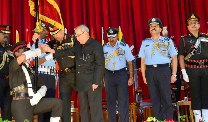 Presidential Colours to the Defence Services Staff College, Wellington, Tamil Nadu