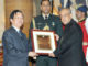 Indologist' award to the People's Republic of China, Prof. Yu Long Yu, at Rashtrapati Bhavan