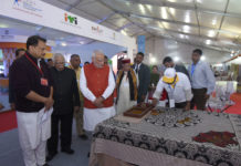 The Prime Minister, Shri Narendra Modi visiting a Skill Exhibition, in Kanpur, Uttar Pradesh on December 19, 2016. The Governor of Uttar Pradesh, Shri Ram Naik and the Minister of State for Skill Development & Entrepreneurship (Independent Charge) and Parliamentary Affairs, Shri Rajiv Pratap Rudy are also seen.