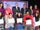 "The Minister of State for Development of North Eastern Region (I/C), Prime Minister's Office, Personnel, Public Grievances & Pensions, Atomic Energy and Space, Dr. Jitendra Singh with the award winners, at an Inter-College ""Northeast"" cultural event of Delhi University, at Daulat Ram College, New Delhi on January 27, 2017."