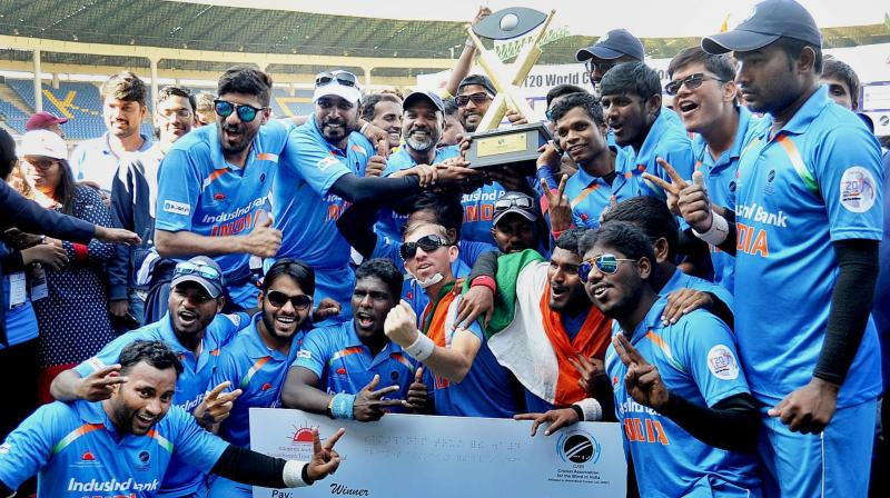Pm Congratulates Indian Blind Cricket Team For Winning T20