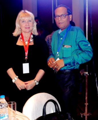 Ms. Irina Obukhova Deputy Director Moscow Institute of Physics and Technology with Mr. Suman Munshi Chief Editor IBG NEWS