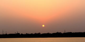 Sunset at Ganga