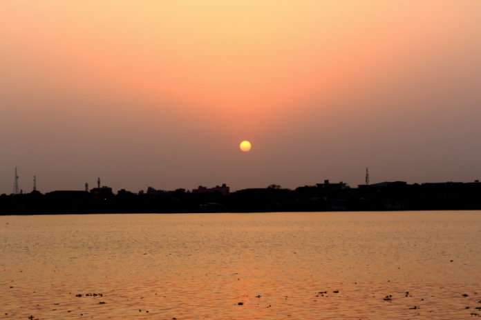 Sunset in the Ganges