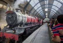 The Hogwarts Express from the Harry Potter series
