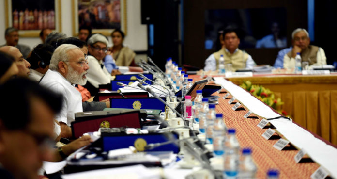 The Prime Minister, Shri Narendra Modi chairing the 3rd Governing Council Meet of the NITI Aayog, in New Delhi on April 23, 2017.