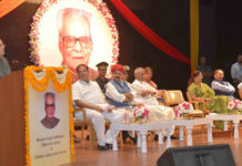 The President, Shri Pranab Mukherjee delivering the first Bhairon Singh Shekhawat Memorial Lecture, at Jaipur, in Rajasthan on May 15, 2017. The Governor of Rajasthan, Shri Kalyan Singh, the Chief Minister of Rajasthan, Smt. Vasundhara Raje Scindia, the Chief Minister of Sikkim, Shri Pawan Kumar Chamling and other dignitaries are also seen.