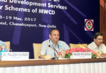 The Secretary, Ministry of Women and Child Development, Shri Rakesh Srivastava chairing the conference of State WCD Secretaries, in New Delhi on May 18, 2017.