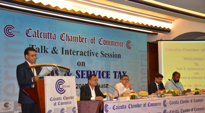 Calcutta Chamber of Commerce President Mr.Dinesh Jain with Taxation Maestros as Guest of Honor