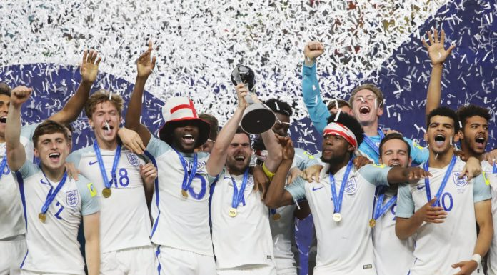 England U-20 celabrate their FIFA U-20 World Cup triumph