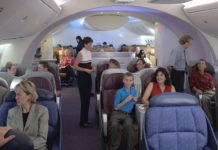 Boeing 787 Dreamliner Interior View