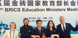 The Union Minister for Human Resource Development, Shri Prakash Javadekar at the 5th BRICS Education Ministers Meeting, in Beijing, China on July 05, 2017.