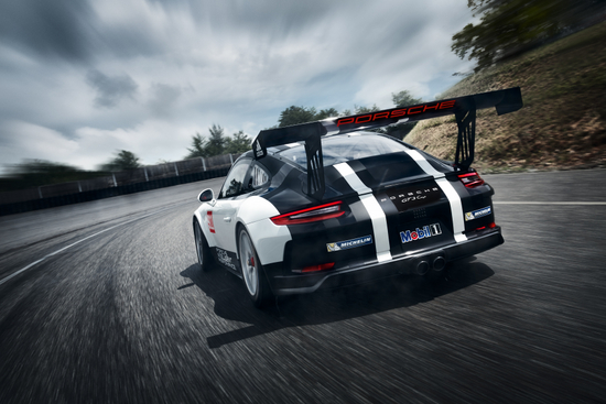 2017 Porsche 911 GT3 Cup - On Track from Rear