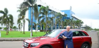 Mr. Roland Folger MD & CEO Mercedes-Benz India with Mercedes_Benz GLC 'C...