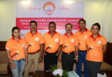 Shining Stars - Kolkata at Indian Masters Badminton League Press Meet