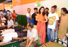 Rituparna Sengupta - In memory of Tagore Blood donation camp Pic By Rajib mukherjee