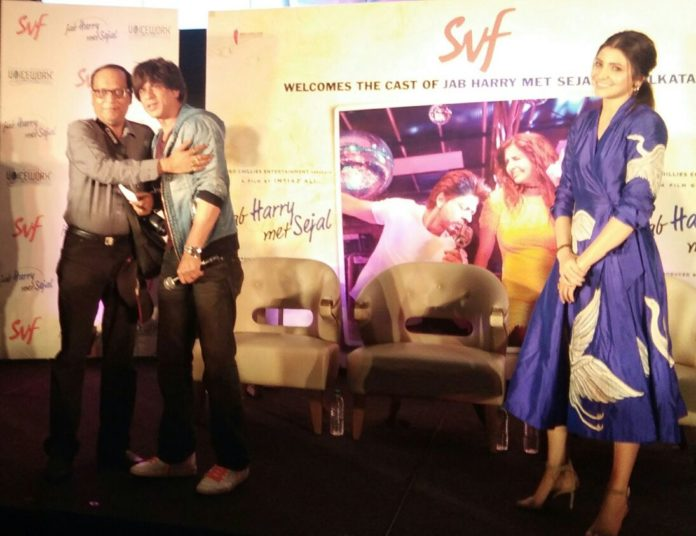 Suman Munshi With Sharukh Khan and Anushka Sharma - Jab Harry Met Sejal Promotion at JW Marriot Kolkata