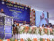 The Union Home Minister, Shri Rajnath Singh addressing at the inauguration of the office and residential premises of National Investigation Agency (NIA), at Lucknow, Uttar Pradesh on August 20, 2017. The Chief Minister of Uttar Pradesh, Yogi Adityanath is also seen.
