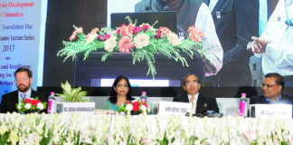 The Secretary, (Telecom), Ms. Aruna Sundararajan at the C-DOT Foundation Day function, in New Delhi on August 30, 2017.