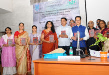 The Minister of State for Home Affairs, Shri Kiren Rijiju releasing the book 'Disaster Law, Emerging Thresholds', during the inauguration of the Special Centre for Disaster Research, at Jawaharlal Nehru University (JNU), in New Delhi on October 26, 2017.