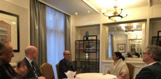 Mamata Banerjee and Amit Mitra with UK Business Team 2