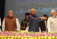 The President, Shri Ram Nath Kovind launching the Bihar Krishi Road Map 2017-2022, at Patna, in Bihar on November 09, 2017. The Governor of Bihar, Shri Satya Pal Malik and the Chief Minister of Bihar, Shri Nitish Kumar are also seen.