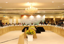 The Union Home Minister, Shri Rajnath Singh chairing the 12th meeting of the Standing Committee of Inter-State Council, in New Delhi on November 25, 2017.