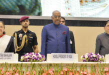 The President, Shri Ram Nath Kovind at the inaugural function of the National Law Day Conference jointly organised by the Law Commission of India and NITI Aayog, in New Delhi on November 25, 2017. The Speaker, Lok Sabha, Smt. Sumitra Mahajan and the Chief Justice of India, Justice Shri Dipak Misra are also seen.