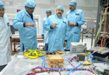 The Minister of State for Development of North Eastern Region (I/C), Prime Minister's Office, Personnel, Public Grievances & Pensions, Atomic Energy and Space, Dr. Jitendra Singh visiting the different sections of the Remote Sensing Unit at Space Application Centre, Ahmedabad on December 26, 2017. The Director, Space Application Centre, Dr. Tapan Misra and other senior scientists are also seen.