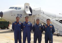 Indian Navy pilots with Boeing P-8I