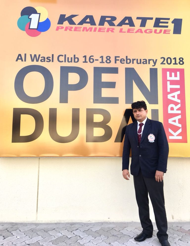 Chak De India – Mr. Premjit Sen makes the country proud becoming the only Indian referee in the World Karate Premier League held in Dubai