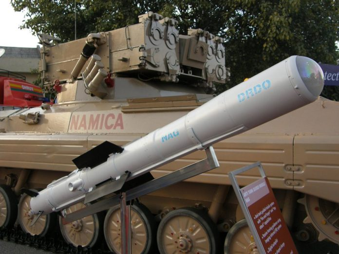 Successful Flight Test of Anti Tank Guided Missiles (ATGM) NAG by DRDO
