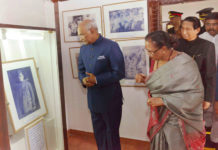 The President, Shri Ram Nath Kovind visiting the birth place and museum of Netaji Subhash Chandra Bose, at Bhubaneswar, Odisha on March 17, 2018. The Governor of Odisha, Dr. S.C. Jamir and the first Lady of India, Smt. Savita Kovind are also seen.